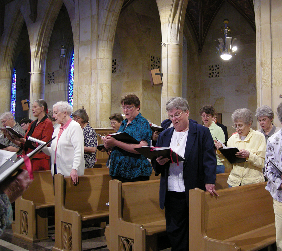 Our Ministry of Prayer -The Benedictine Sisters singing in chapel