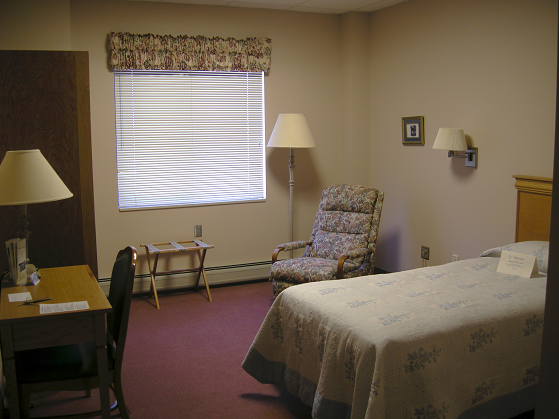 Yankton Benedictine Peace Center bedroom accommodations