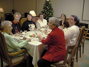 Yankton Benedictine Sisters celebrating Christmas 2010