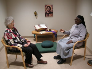 Sister Doris Oberembt uses her listening skills as a spiritual director in the Benedictine Peace Center