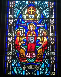 Lady Wisdom 1 Stained Glass Bishop Marty Memorial Chapel Yankton Benedictines Sacred Heart Monastery