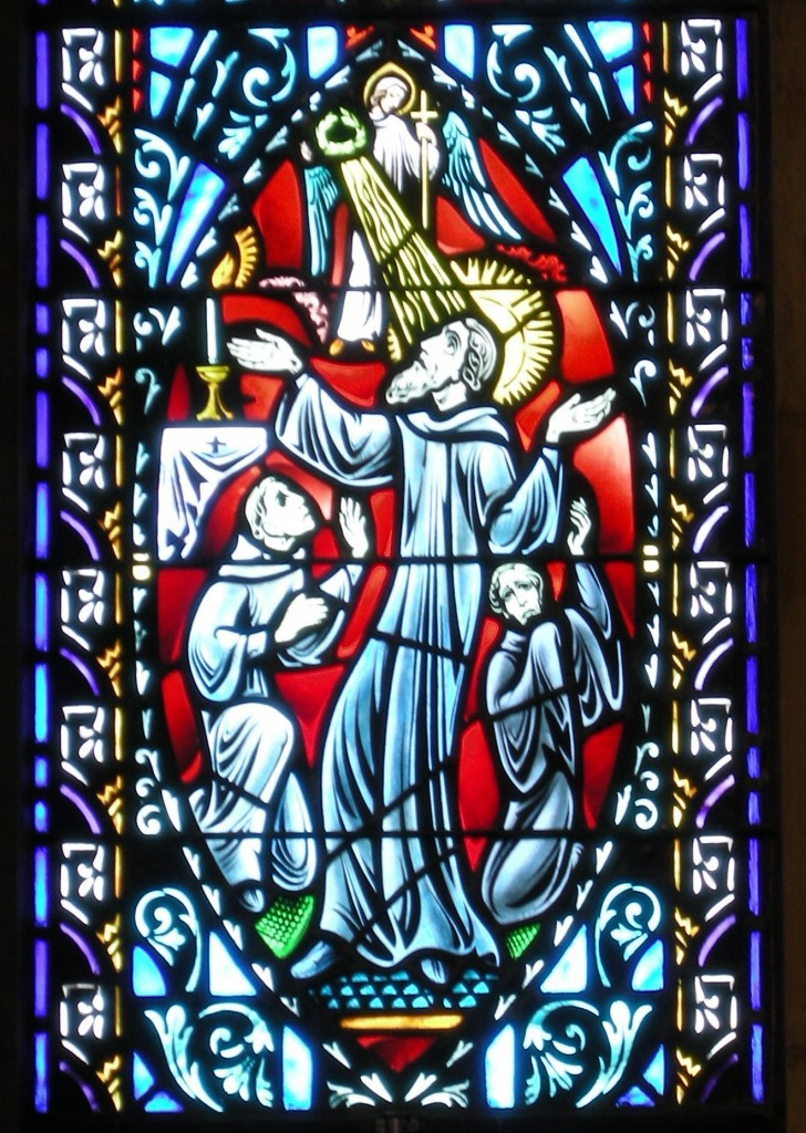 Death Saint Benedict Stained Glass Bishop Marty Memorial Chapel Yankton Benedictines Sacred Heart Monastsery Sisters